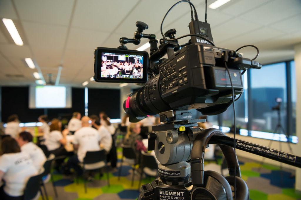Element camera setup at an event.