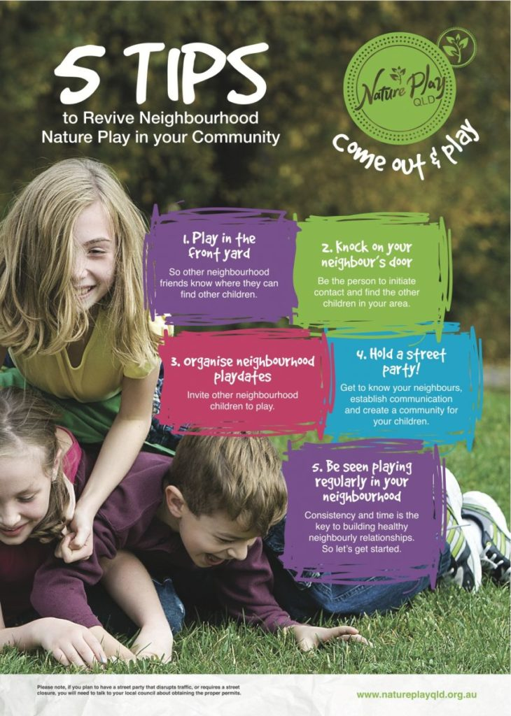 Nature Play has a tonne of resources to help get the ball rolling in your neighbourhood.