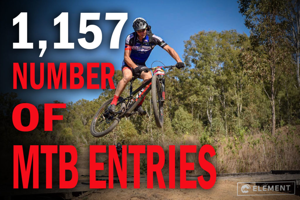 There were 1,157 MTB entries in the Flight Centre Cycle and Trail Run Epic 2018.
