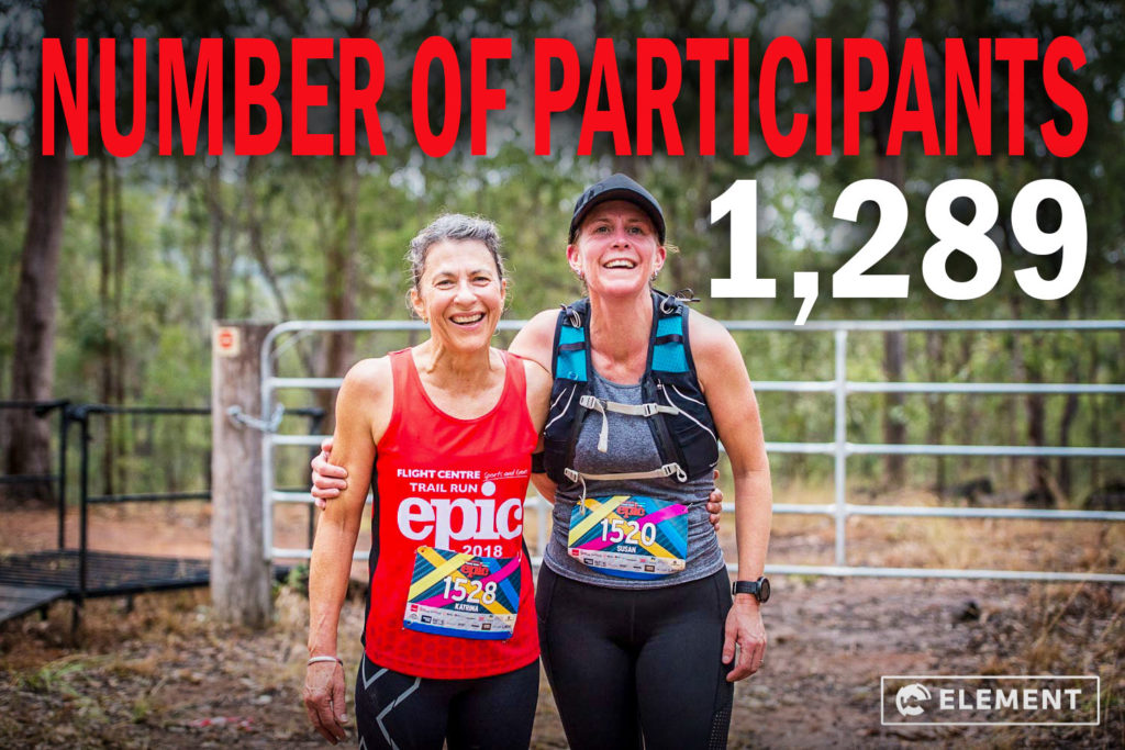 There were over 1200 entries in the Flight Centre Cycle and Trail Run Epic 2018.