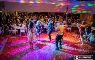 Attendees hit the dance floor.